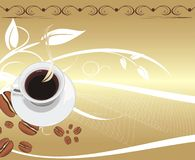 Cup with coffee on the abstract background. royalty free stock photo