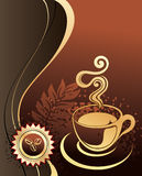 Cup of coffee with abstract background Stock Image