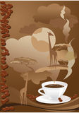 Cup of coffee with abstract elements. Stock Image