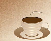 A cup of coffee, abstraction. Stock Photo