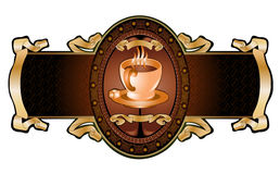 Cup coffee advertising banner Stock Photo