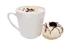 Cup of coffee and air cake Stock Images