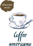 Cup of coffee americano Royalty Free Stock Photos