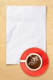 Cup Coffee And Note Paper Royalty Free Stock Photos