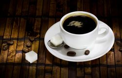 Cup of coffee ans beans Stock Photography