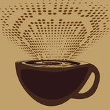 A cup of coffee and aromatic fragrance Royalty Free Stock Photos
