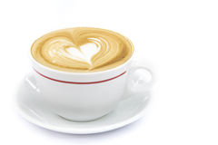 Cup of coffee art latte or cappuccino Stock Photo
