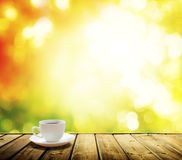 Cup coffee and autumn Stock Photo