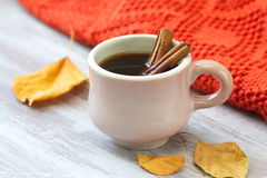 Cup of coffee in autumn Stock Photo