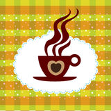 Cup of coffee background Royalty Free Stock Photos
