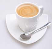Cup of coffee on background Stock Photo