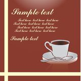 Cup of coffee background Royalty Free Stock Images