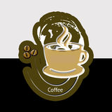 Cup of coffee. Background with  cup of coffee and cream Royalty Free Stock Photo