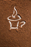 Cup of coffee, background Royalty Free Stock Photography