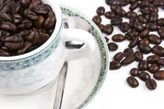 Cup of Coffee Bean Stock Images