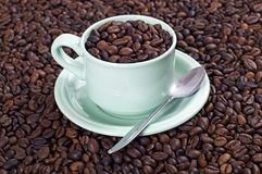 A Cup Of Coffee Bean Stock Images