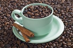 A Cup Of Coffee Bean Royalty Free Stock Images