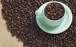 A Cup Of Coffee Bean Stock Photos