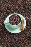 A Cup Of Coffee Bean Royalty Free Stock Photo