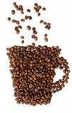 Cup from coffee bean Stock Photography