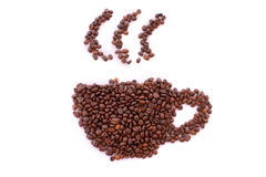 Cup from coffee beans Royalty Free Stock Photo