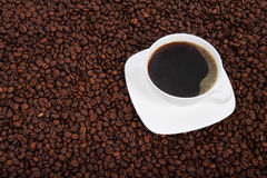 Cup of Coffee with Beans Royalty Free Stock Image