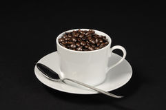 Cup of Coffee Beans Royalty Free Stock Images