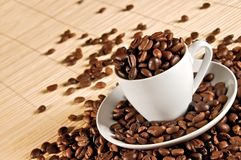 Cup of coffee beans 2 Stock Images