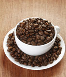 A Cup of Coffee Beans Stock Image