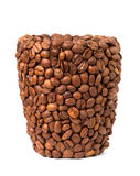 Cup of coffee beans Stock Photo