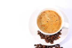 Cup of coffee with beans Royalty Free Stock Photo