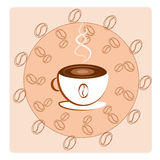 A cup of coffee and beans Royalty Free Stock Photography