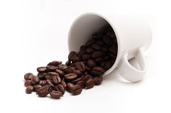 Cup of coffee with beans concept Stock Photos