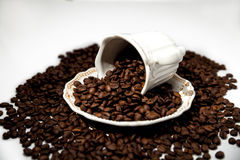 A Cup of coffee beans Stock Photo