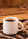 Cup of coffee with beans still life Royalty Free Stock Photos