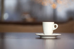 A cup of coffee and beans. Royalty Free Stock Photos
