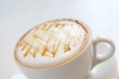 A cup of coffee with beautiful caramel Stock Image