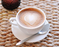 cup of coffee in beautiful day Royalty Free Stock Image