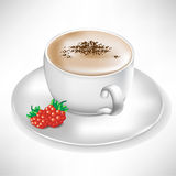 Cup of coffee with berry Royalty Free Stock Photos