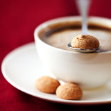 Cup of coffee with biscotti Royalty Free Stock Images