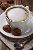 Cup of coffee with biscotti Royalty Free Stock Photo