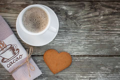 Cup of coffee with biscuit cookies Royalty Free Stock Photo