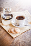 Cup of coffee and biscuit Royalty Free Stock Images