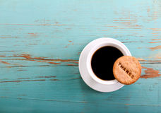 Cup of coffee and biscuit Stock Photography