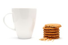 Cup of coffee with biscuits Stock Photo