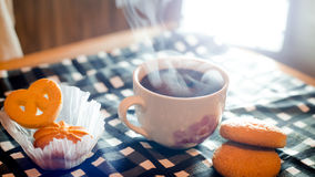 Cup of coffee. With biscuits Royalty Free Stock Photography