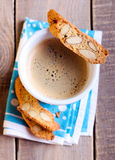 Cup of coffee and biscuits Royalty Free Stock Image