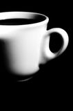 Cup of coffee on black background Stock Image