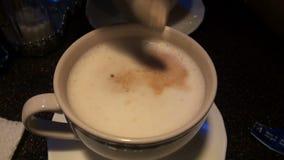 Cup of coffee. Black break breakfast stock video footage