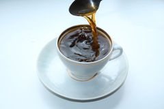 Cup of coffee, black Royalty Free Stock Image